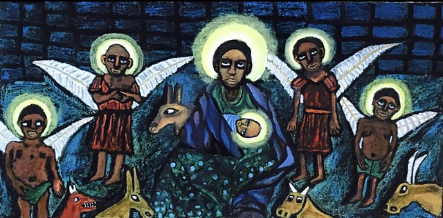 Infant Jesus with Mother Mary and Angels - We were actually blacks