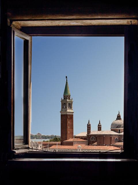 View Through an Open Window.
