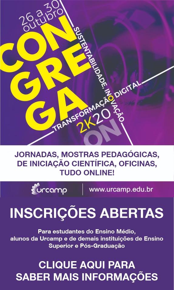 Congrega Urcamp 2k20 - Evento online - SE INSCREVA AQUI