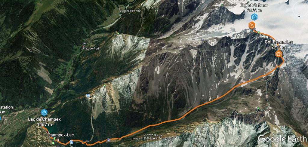 Val Arpette (Day2, H.R. Chamonix-Zermatt) Walliser Alpen / Alpes valaisannes Švýcarsko foto 03