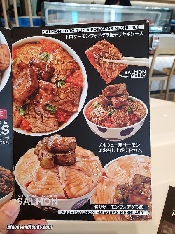 sushi hiro bangkok menu salmon foie gras meshi