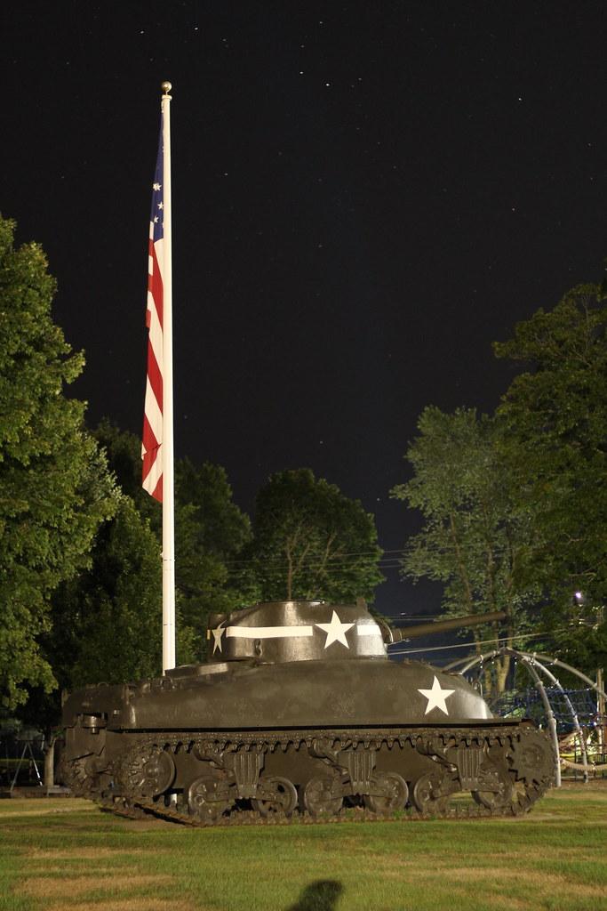Sherman tank in Hamilton/Wenham