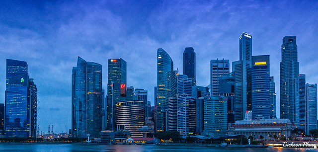 The Singapore skyline in the early morning