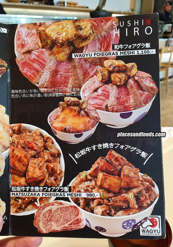 sushi hiro bangkok wagyu foie gras meshi