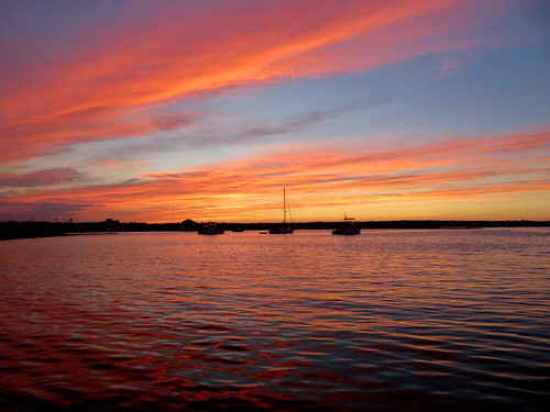 berkeley nj island park sunset clouds boats barnegat bay pink blue