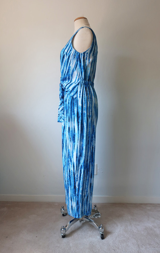 jumpsuit side view on form