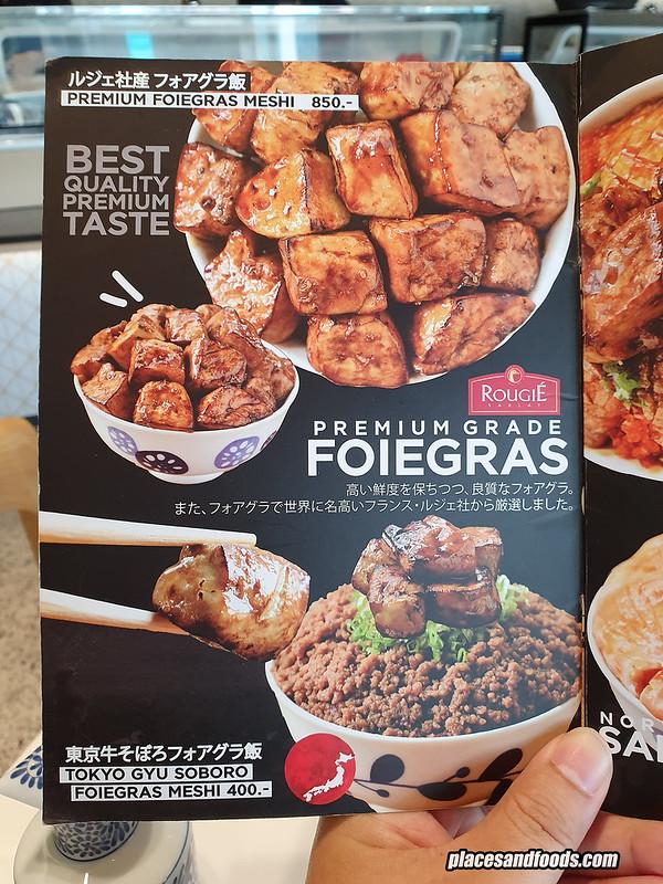 sushi hiro bangkok foie gras menu