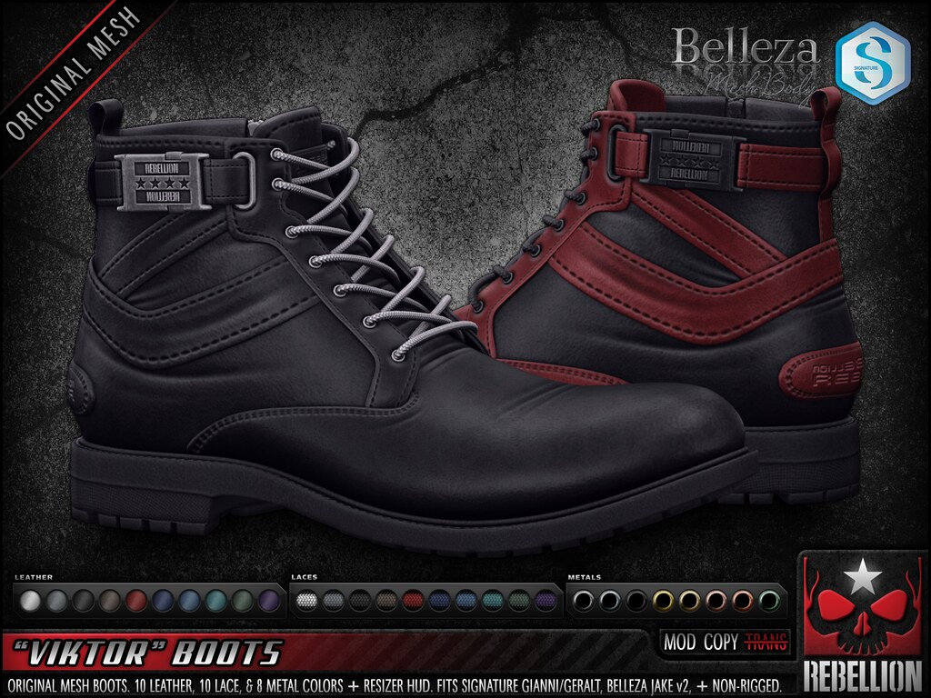 "= REBELLION = ""VIKTOR"" BOOTS"