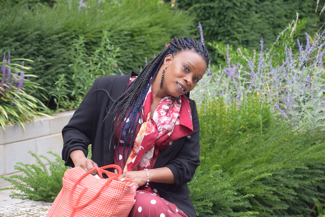 DSC_6035 Sopie from Côte d'Ivoire out on the Town City of London Saint Botolph Without Aldgate Church of England Garden with Lavender