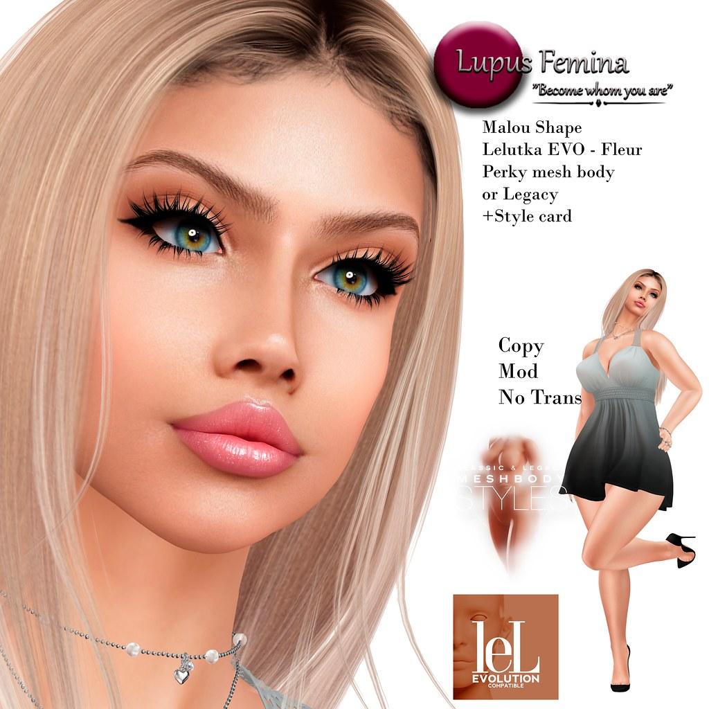 """""""Lupus Femina"""" Malou Shape- Lelutka EVO Fleur head"""