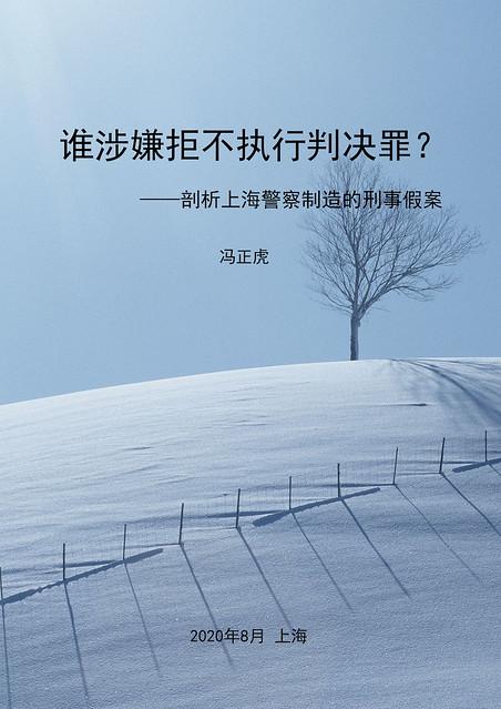 《剖析上海警察制造的刑事假案》封面