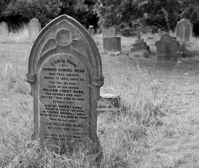 Family grave of William and Harriet Webb