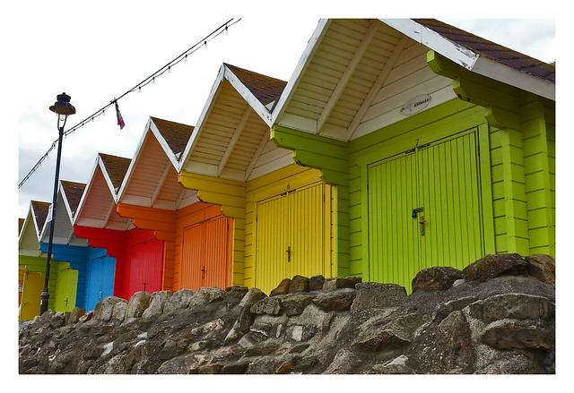 colourful beach huts , Scarborough