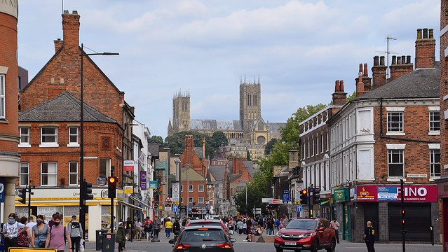 Lincoln Cathedral, high above the city. 02 09 2020