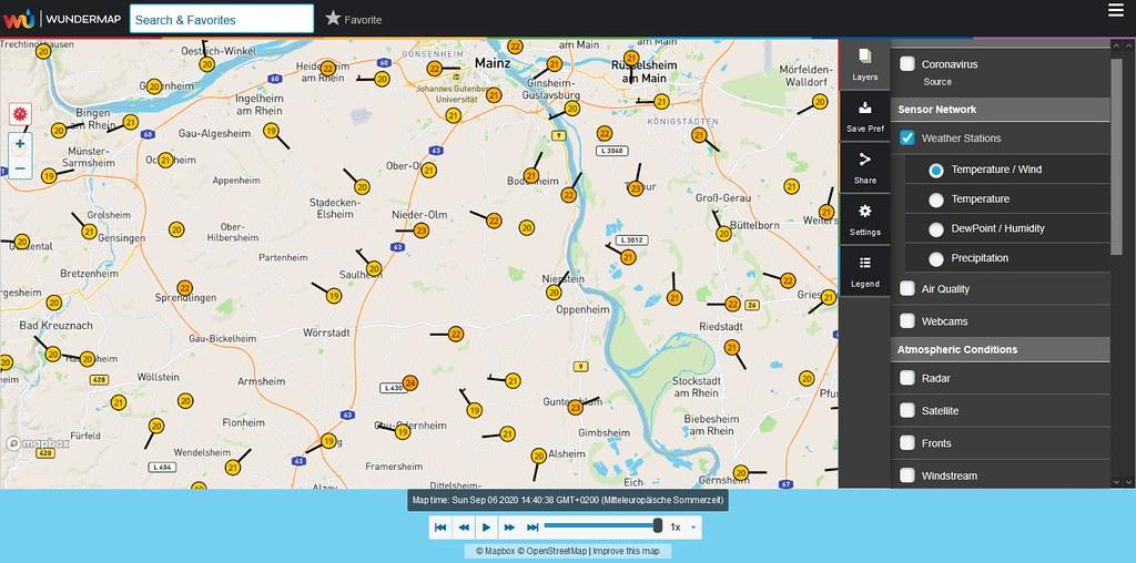 Wundermap von Weather Underground