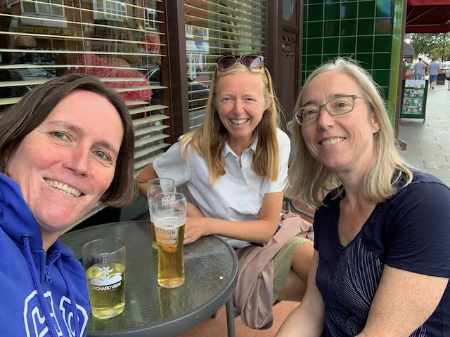 Frinton pint with Hazel and Catherine