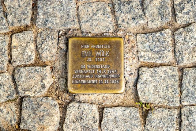Stolperstein für Emil Wölk
