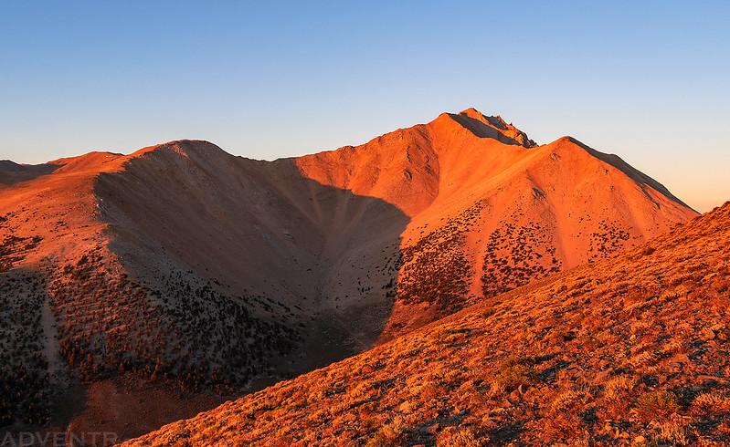 Boundary Peak at Sunrise