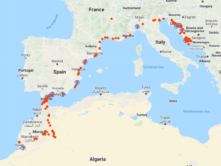 2020 Croatia to Morocco Drive