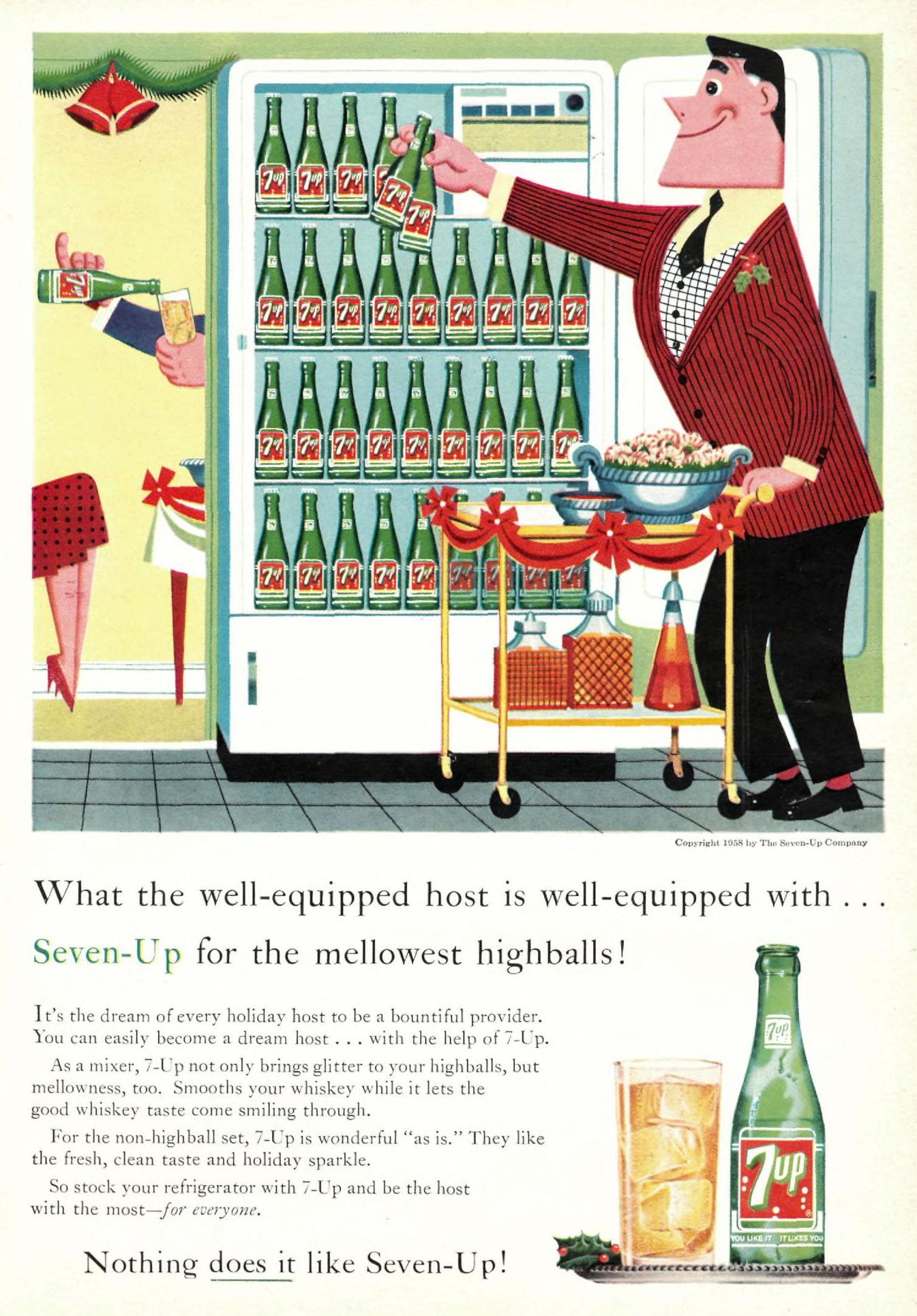 The Seven-Up Company - published in Sports Illustrated - December 22, 1958
