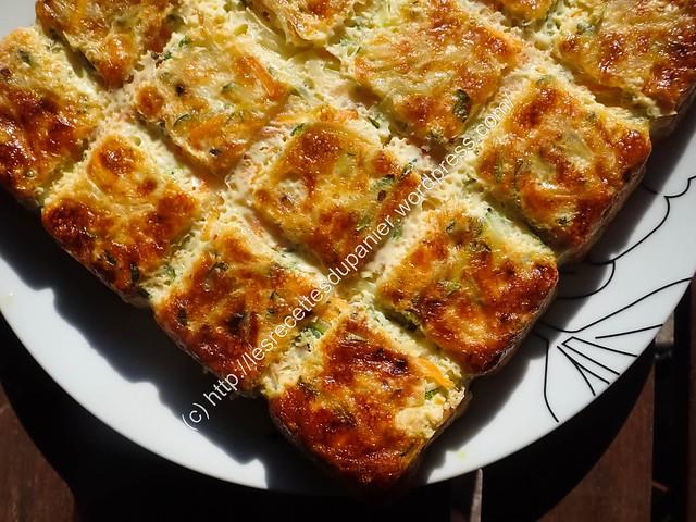 Flan de courgettes et carottes / Zucchini and Carrots Flan