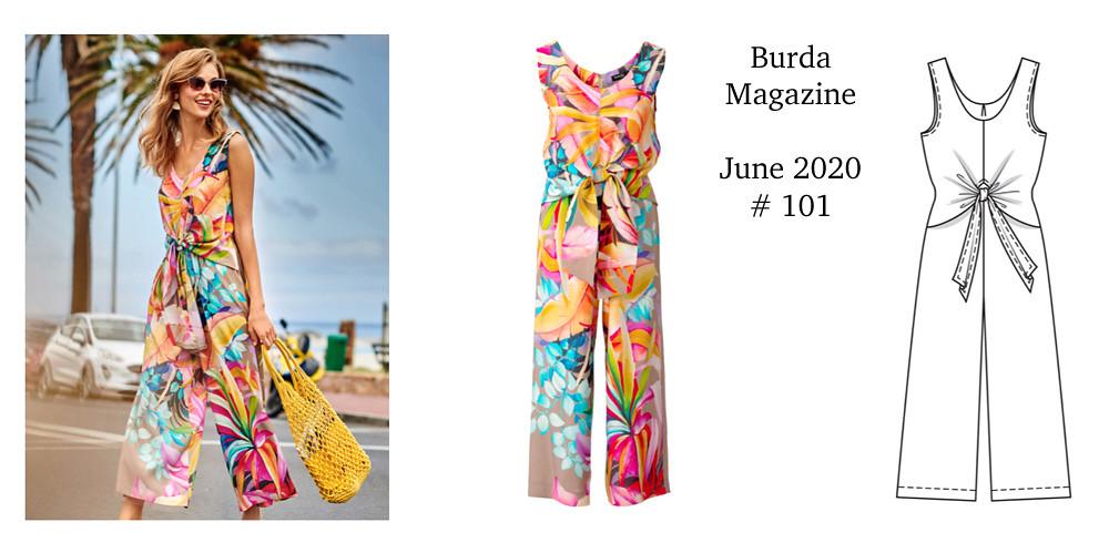 Jumpsuit Burda Magazine pattern image