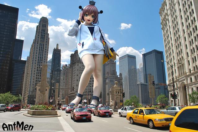 Cosplay giantess 2