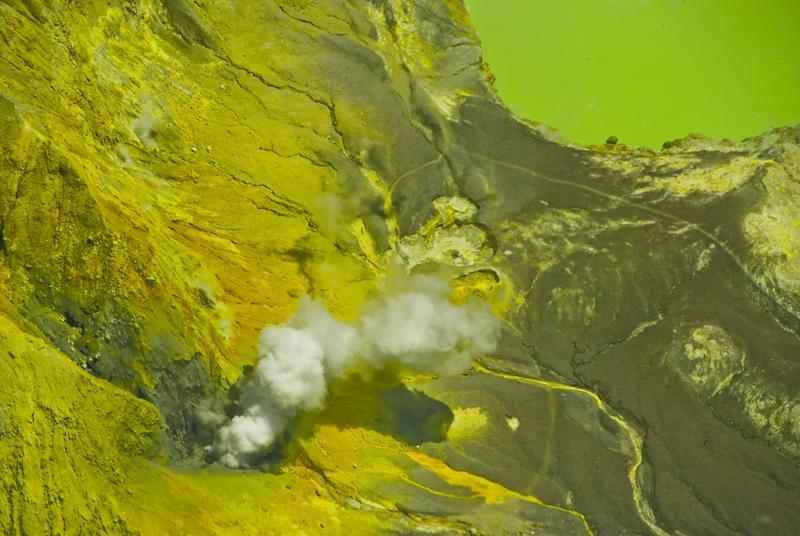 volcanic yellow lake