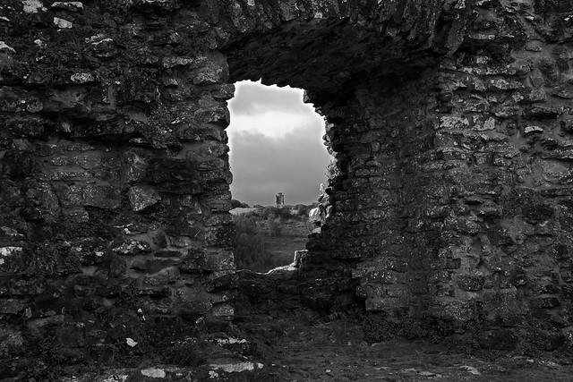 Paxton's Tower, as seen from Dryslwyn Castle