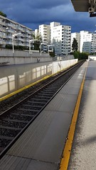 Metro station after rainfall