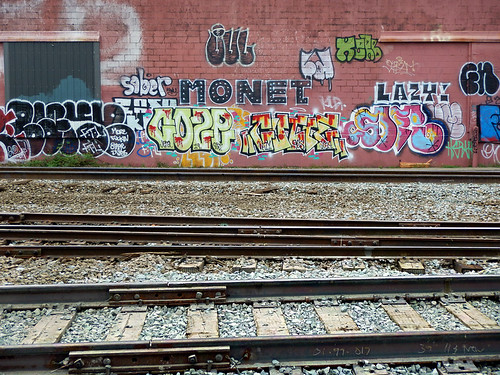 Vancouver Eastside graffiti down by the train tracks