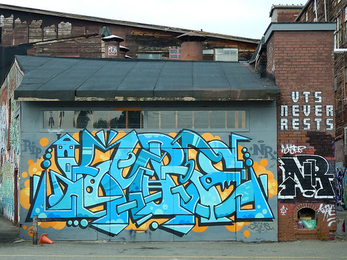 Vancouver Eastside 'Wildstyle' graffiti down by the train tracks