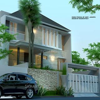 rumah 4 lantai modern tropis_semibasemen   rumah 4 lantai