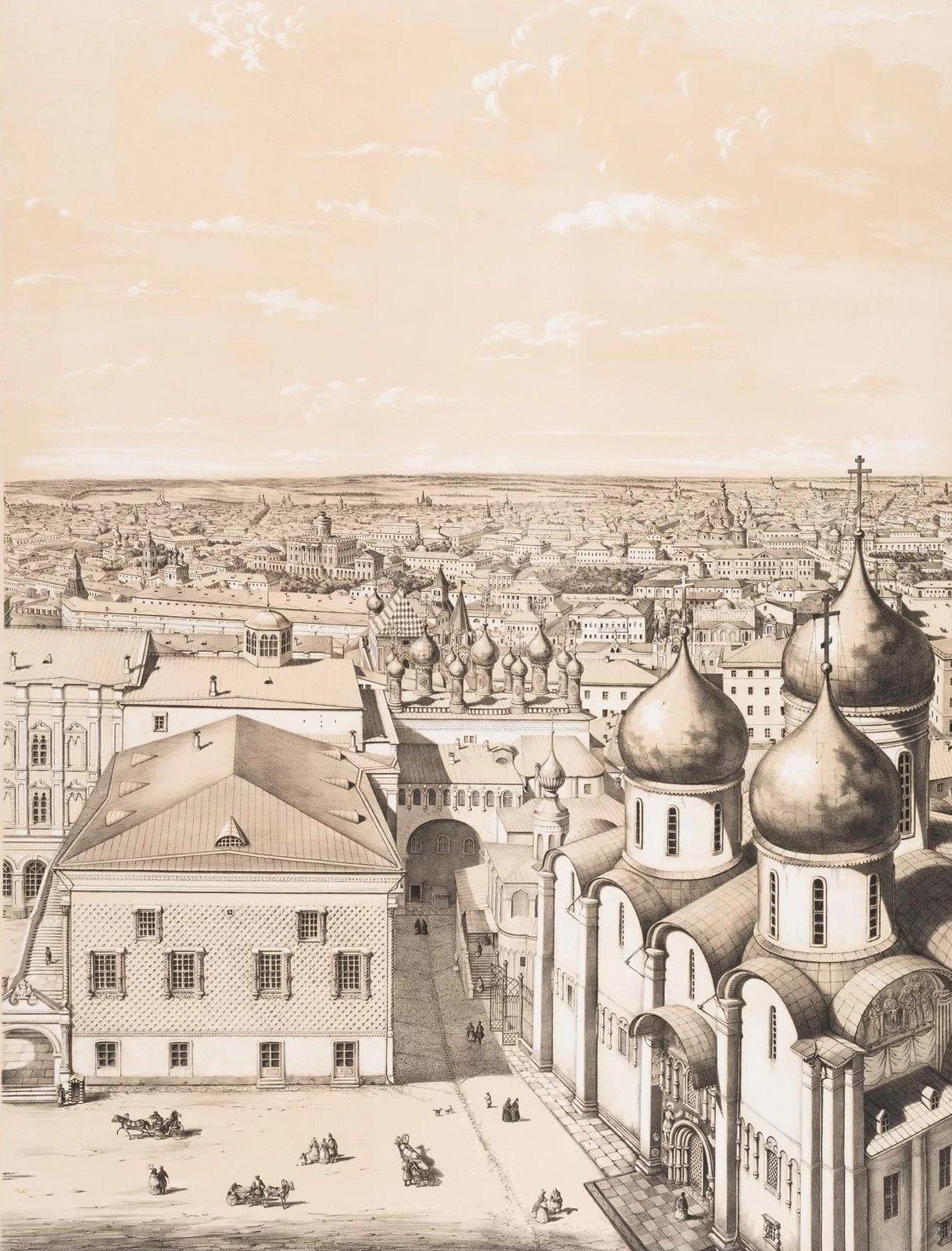08.  Панорама Москвы с колокольни Ивана Великого. Западная часть города. (Вид в сторону дома Пашкова)