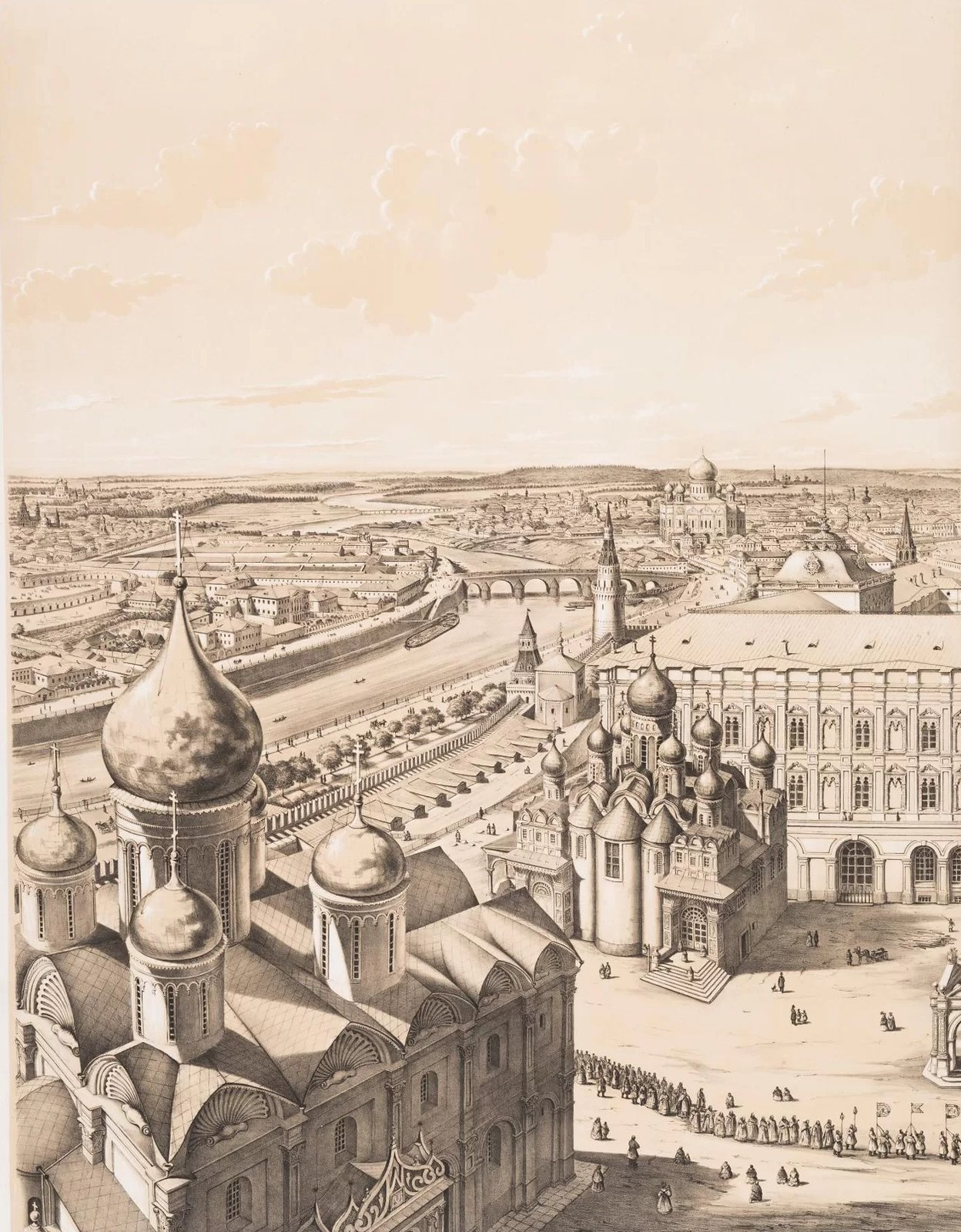 07. Панорама Москвы с колокольни Ивана Великого. Южная часть города. (Вид в сторону Замоскворечья)