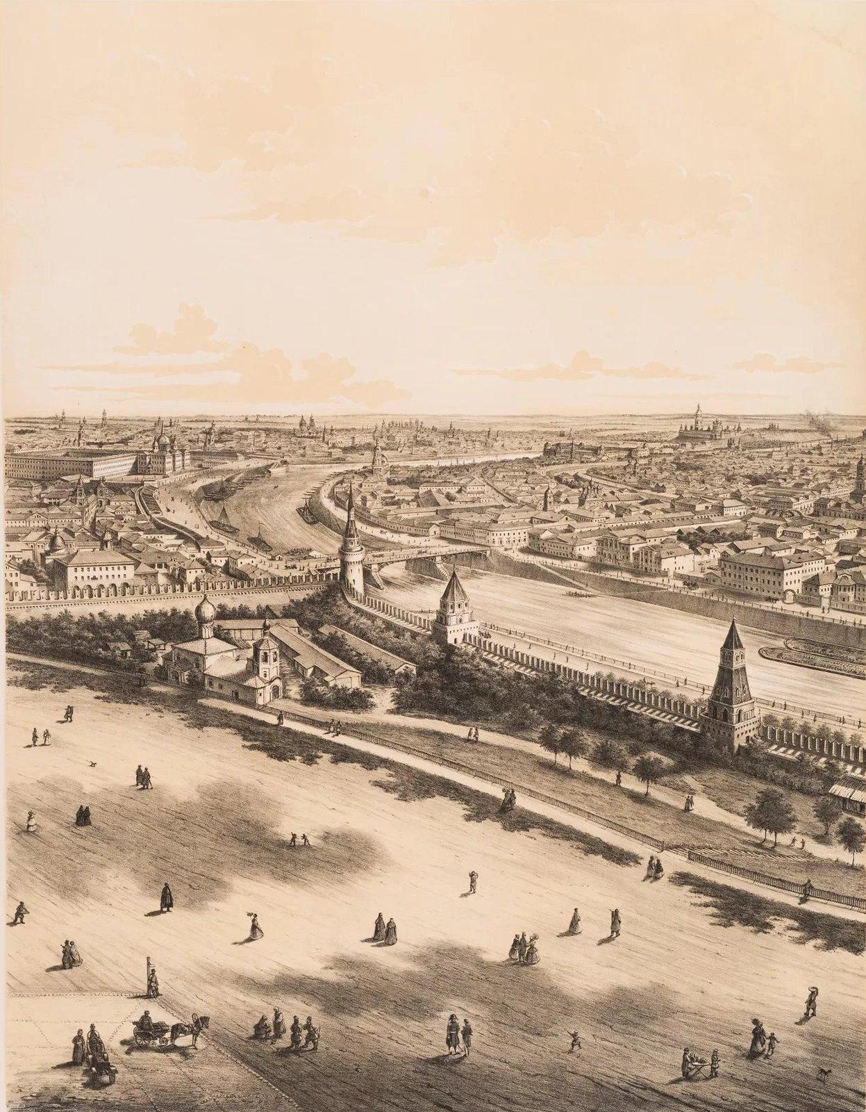 05. Панорама Москвы с колокольни Ивана Великого.Восточная часть города. (Вид в сторону Спасских ворот)