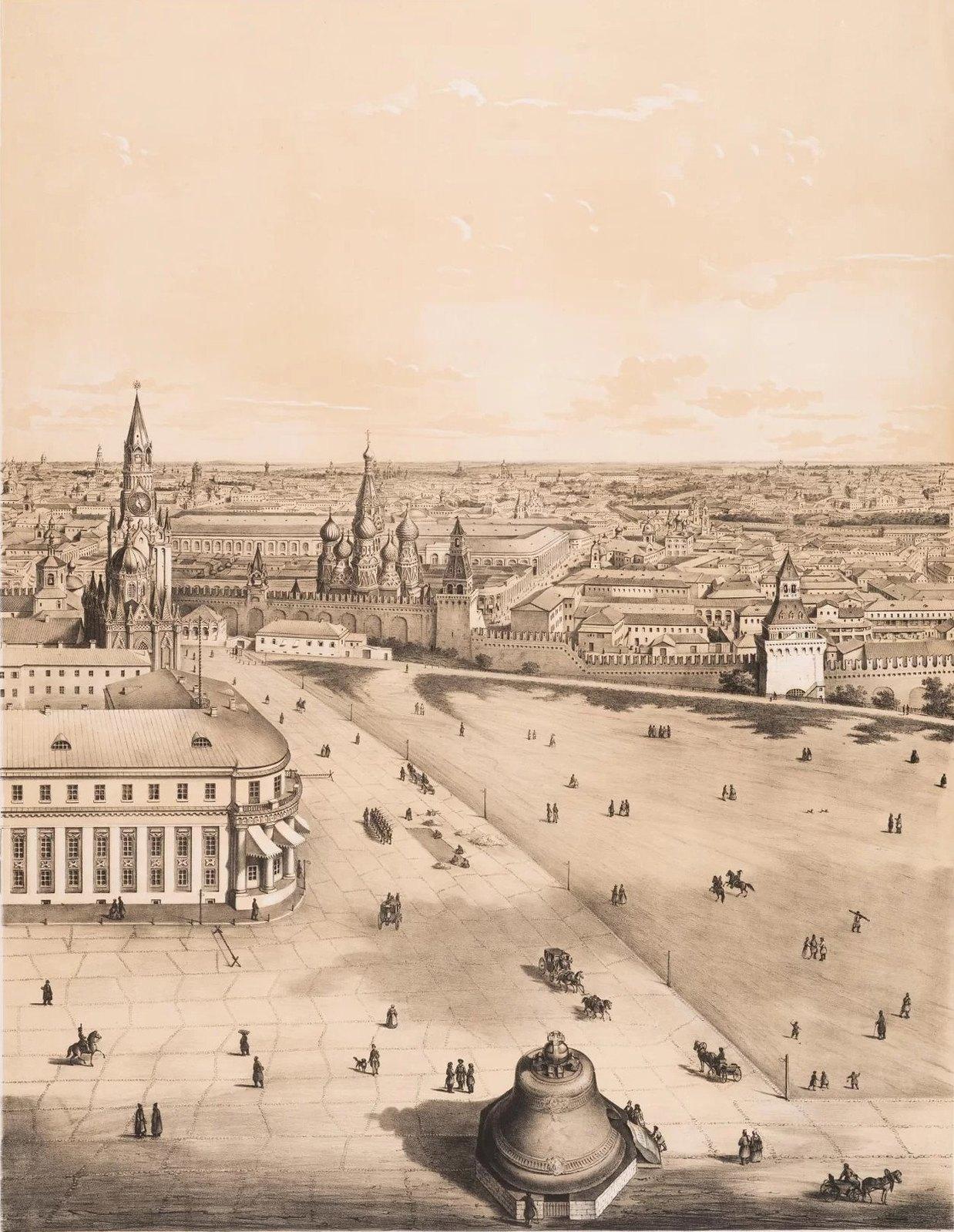 04. Панорама Москвы с колокольни Ивана Великого. Юго-восточная часть города. (Вид в сторону Воспитательного дома)