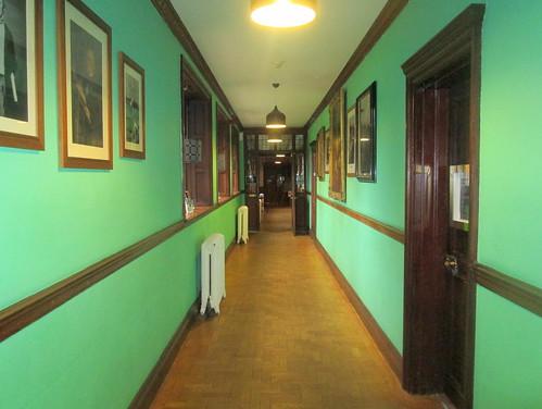 Corridor in Gladstone's Library, Hawarden, Wales