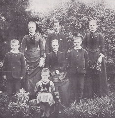 Sarah Jane Brown and six of her children, c 1885