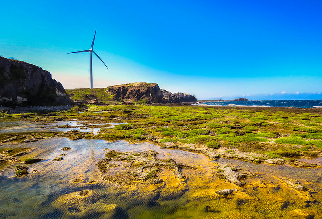 Wind Turbine at coastal Banqui Bay