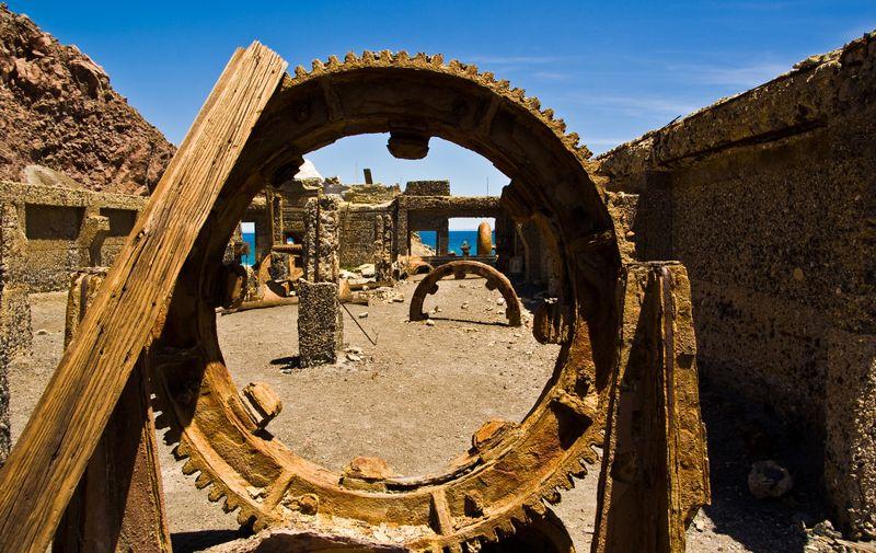 Sulphur processing plant ruins