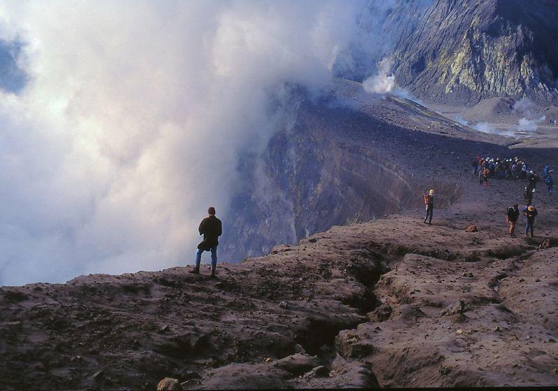 The stratovolcano in 1987
