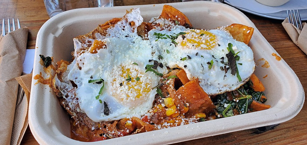 Chilaquiles from Pablo y Pablo in Seattle