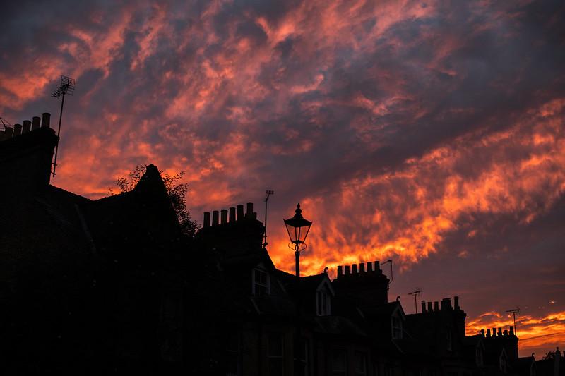 Cambridge sunset, on🔥
