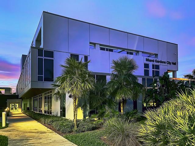 Miami Gardens Municipal Complex, City Hall Building, 18605 NW 27th Avenue, Miami Gardens, Florida, USA / Built: June, 2014 / Floors: 3