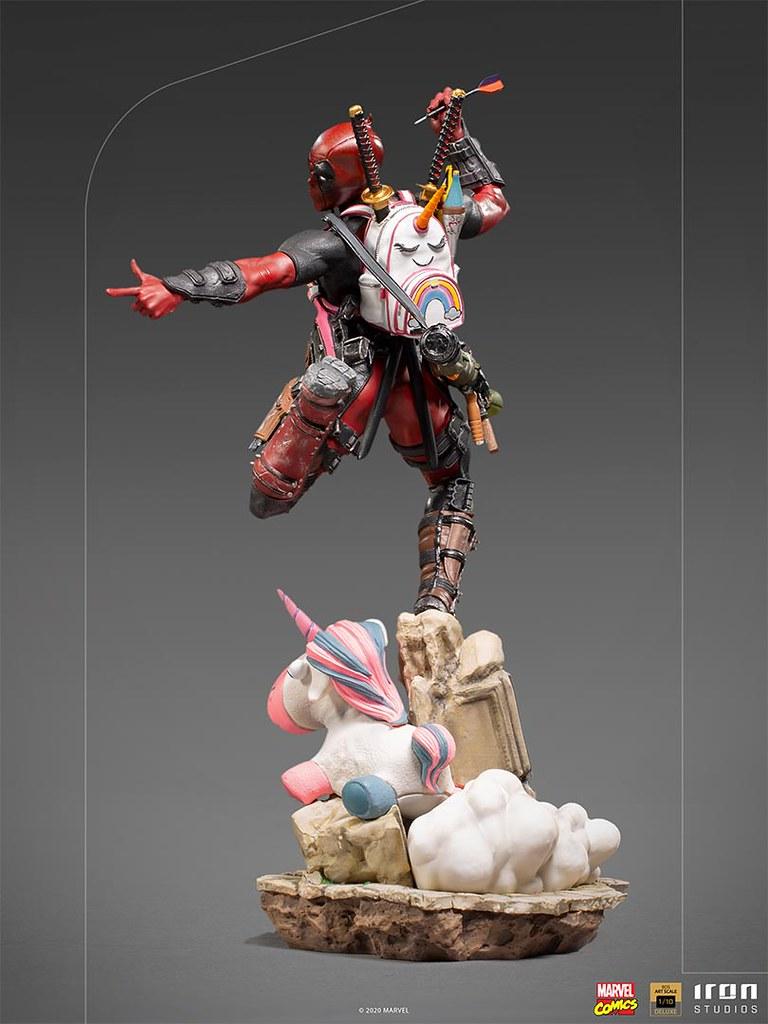 Iron Studios MARVEL【死侍】全身雕像!賤嘴傭兵少女心華麗噴發