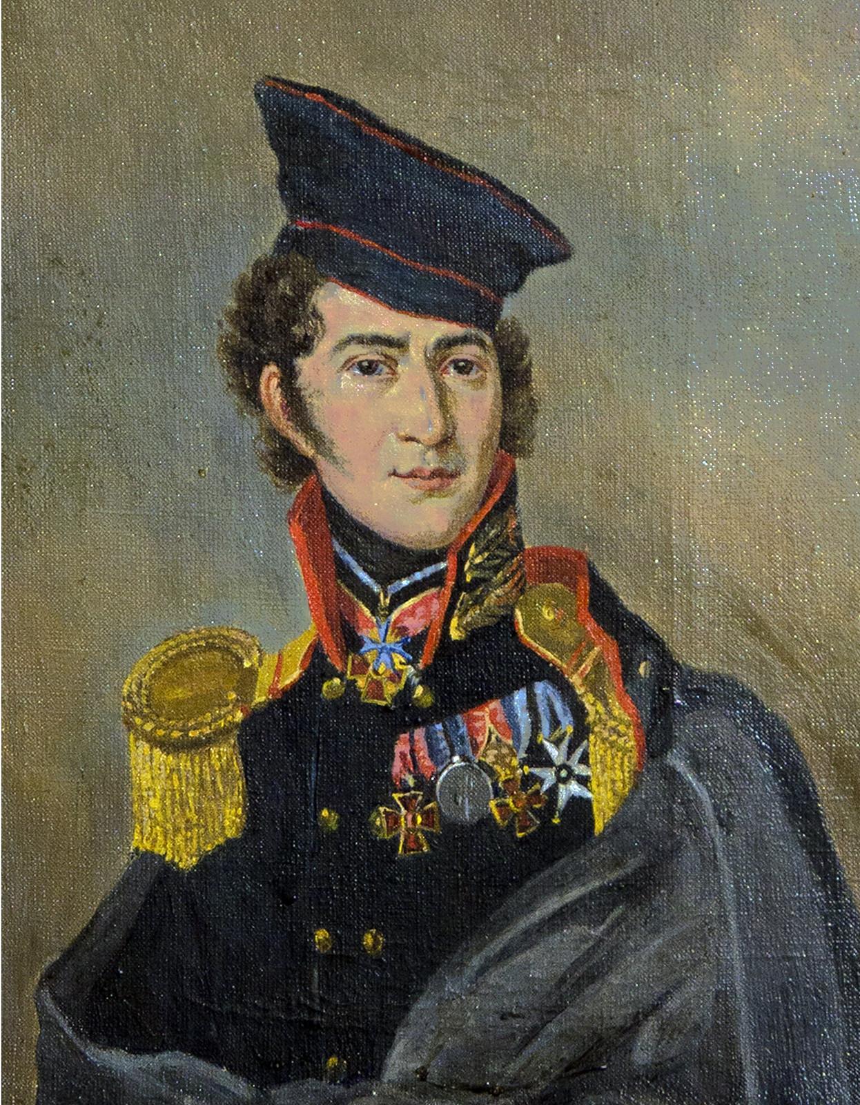 Куинджи В.К.  Столыпин Дмитрий Алексеевич (1785 – 1826), капитан, участник Бородинского боя