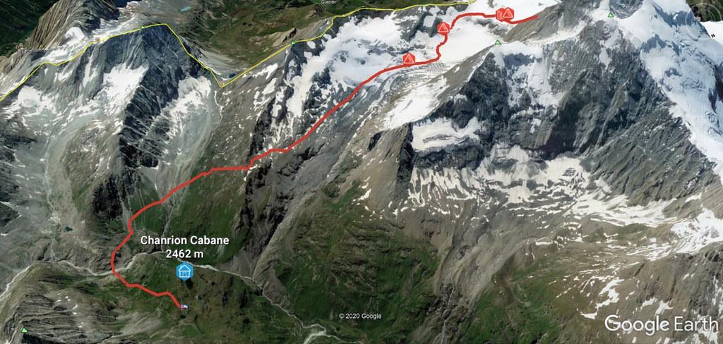 Plateau Couloir, Day4 H.R.Chamonix-Zermatt Walliser Alpen / Alpes valaisannes Schweiz foto 04