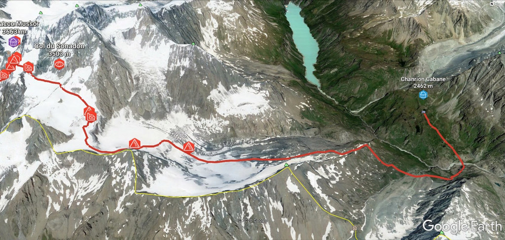 Plateau Couloir, Day4 H.R.Chamonix-Zermatt Walliser Alpen / Alpes valaisannes Schweiz foto 03