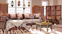 Aziza Moroccan Living Room